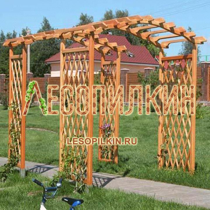 Перголы и арки из дерева для дачи своими руками фото для начинающих 64